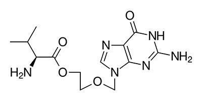 Валацикловир - химическая структура