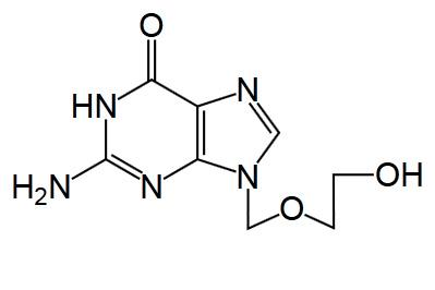 Химическая структура ацикловира близка к гуанину